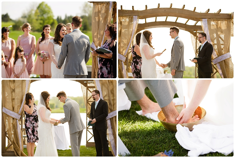Vows and Foot Washing